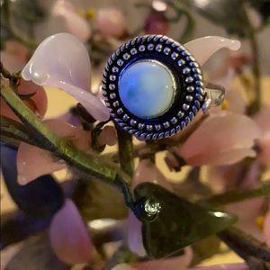 Vintage 925 Larimar poison ring